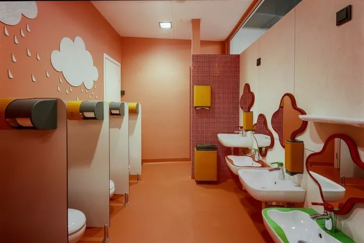 【洗手间】幼儿园卫生间这样设计,让孩子爱上洗手!