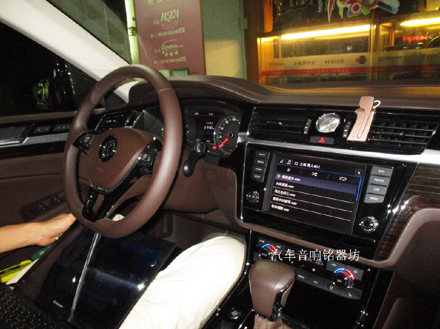 深圳大众辉昂一款不容忽视的好车升级丹麦丹拿三分频汽车音响_东