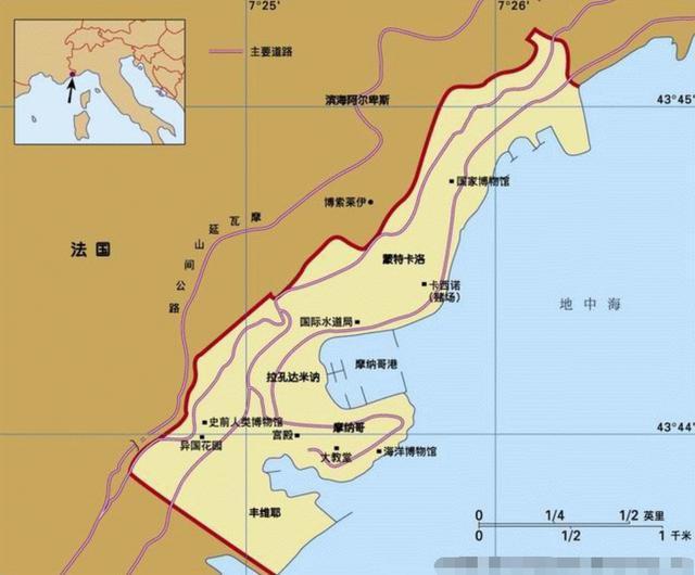 摩纳哥人口2021_摩纳哥地图