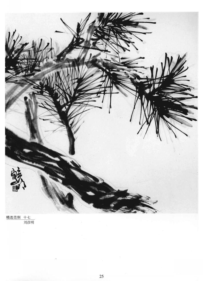 中国画技法基础教学 松树的画法详解,松树的结构与形态分析