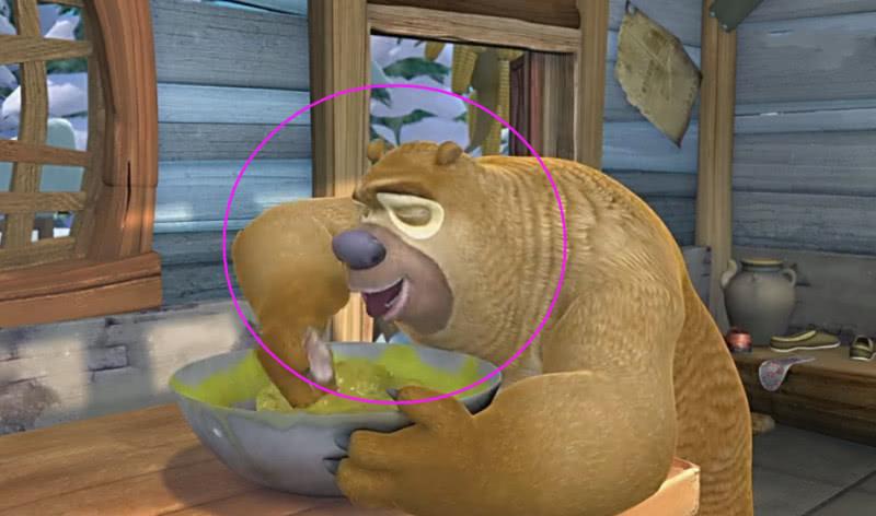 熊出没中熊二吃过最难吃的3种食物,光头强 宁愿饿死都不吃一口