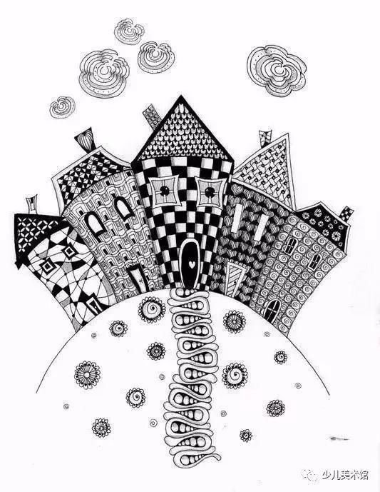 教育 正文  线描画有时由于表现得太多,物体与物体之间容易混淆,层次图片