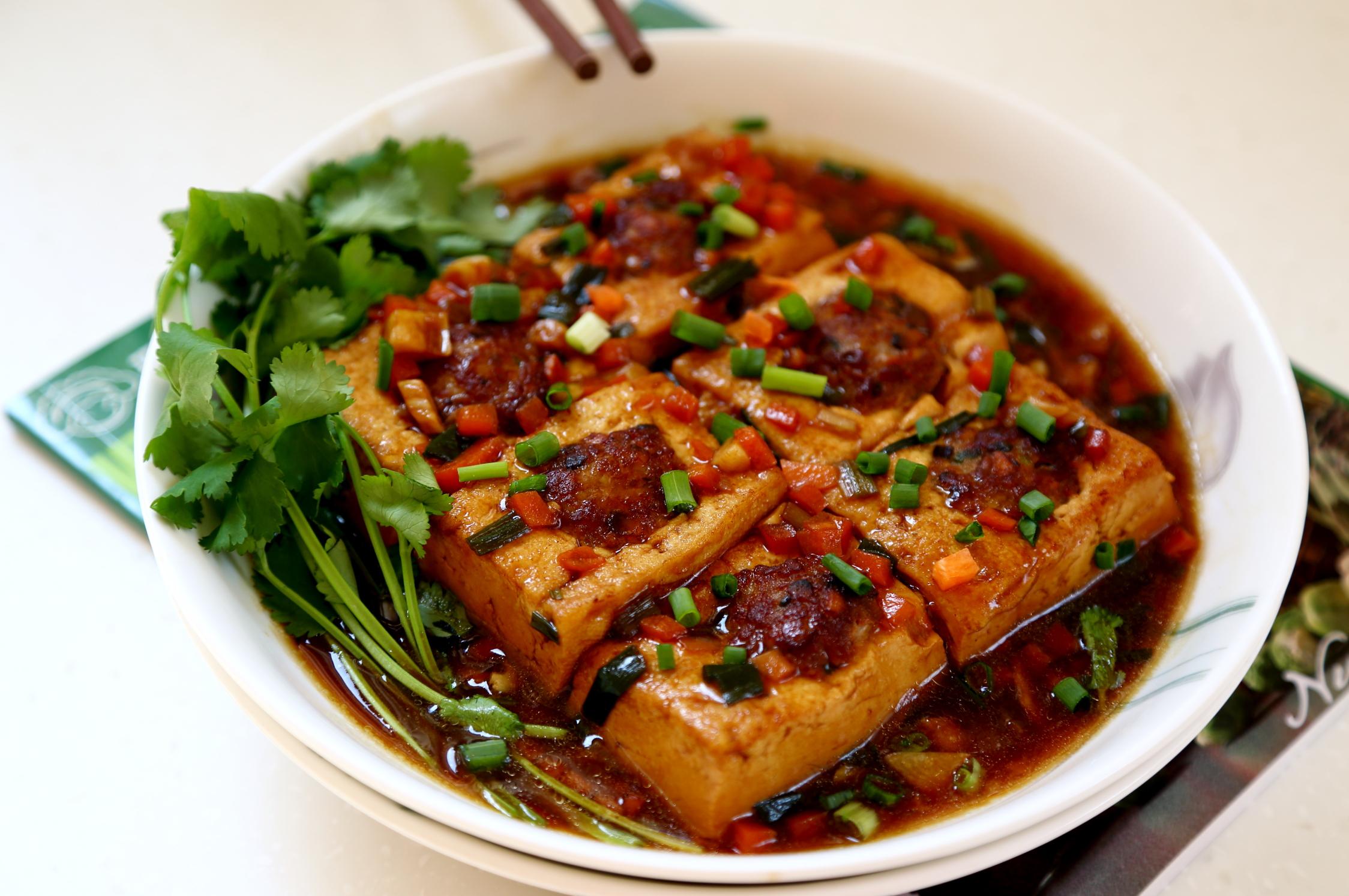 黄焖千页豆腐鸡图片