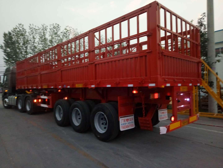 全挂车_重型自卸侧翻半挂车载重100吨_水泥