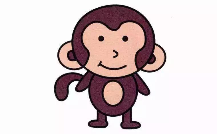 小猴子简笔画画法 怎么画小猴子的简笔画 简笔画动物 儿童简笔画图片大全