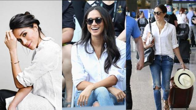 三个要素将白衬衫穿出不一样的味道:梅根马克靠它泡到了王子