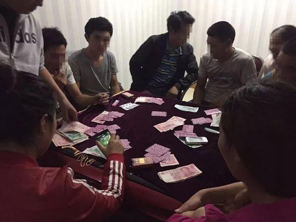 银川40多人聚众赌博被抓,查货赌资30万!