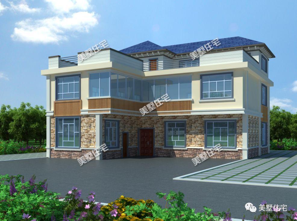L型别墅户型设计图