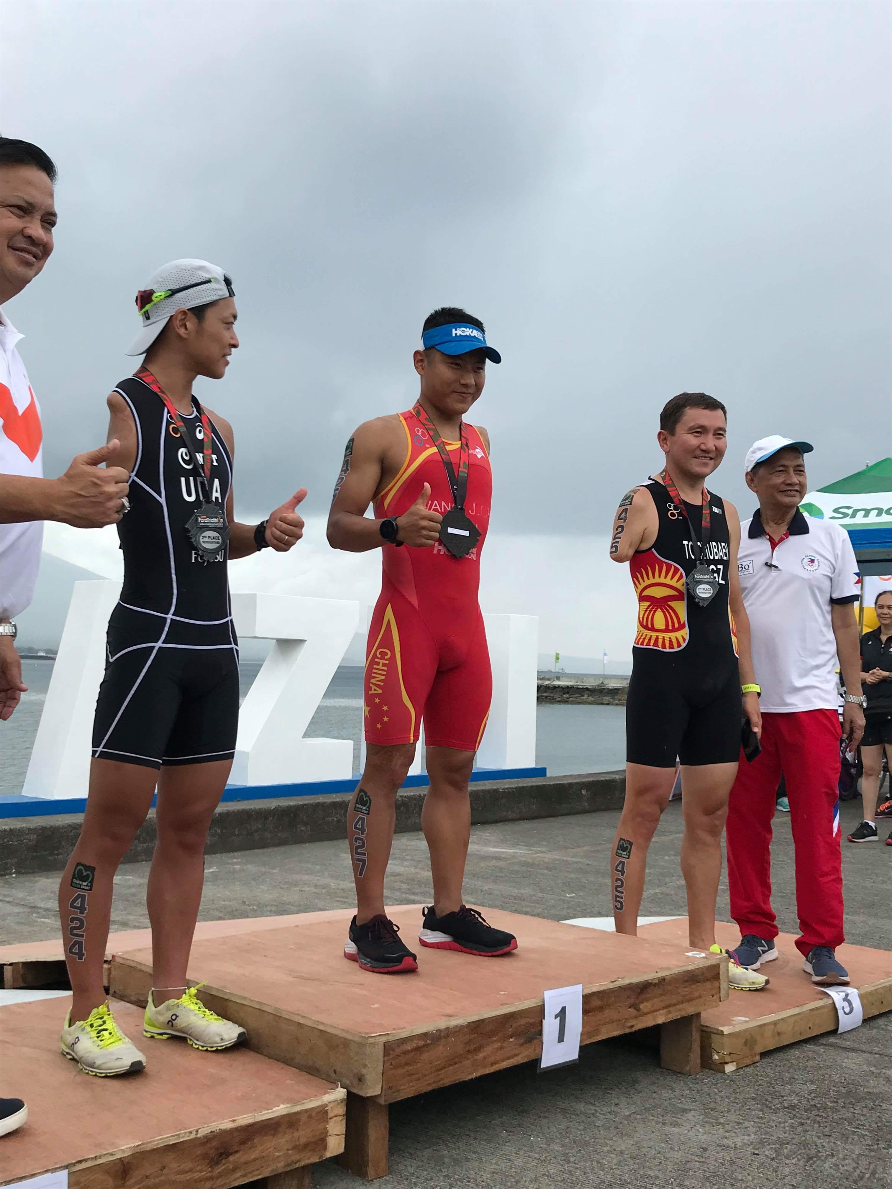 独自参赛!王家超获亚洲残疾铁三锦标赛PTS4冠军