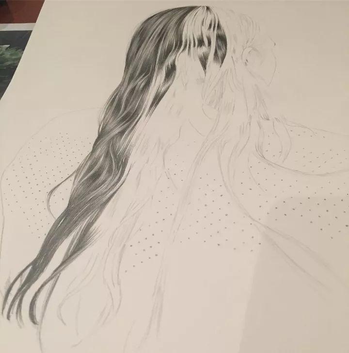 绘画教程 头发的画法,这样画头发才逼真又好看