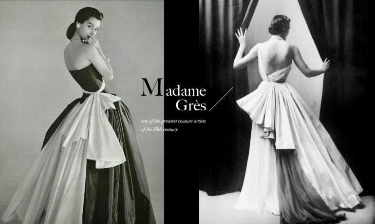 启发无数经典时尚的高订大师:布料雕塑家Madame Gres格雷夫人