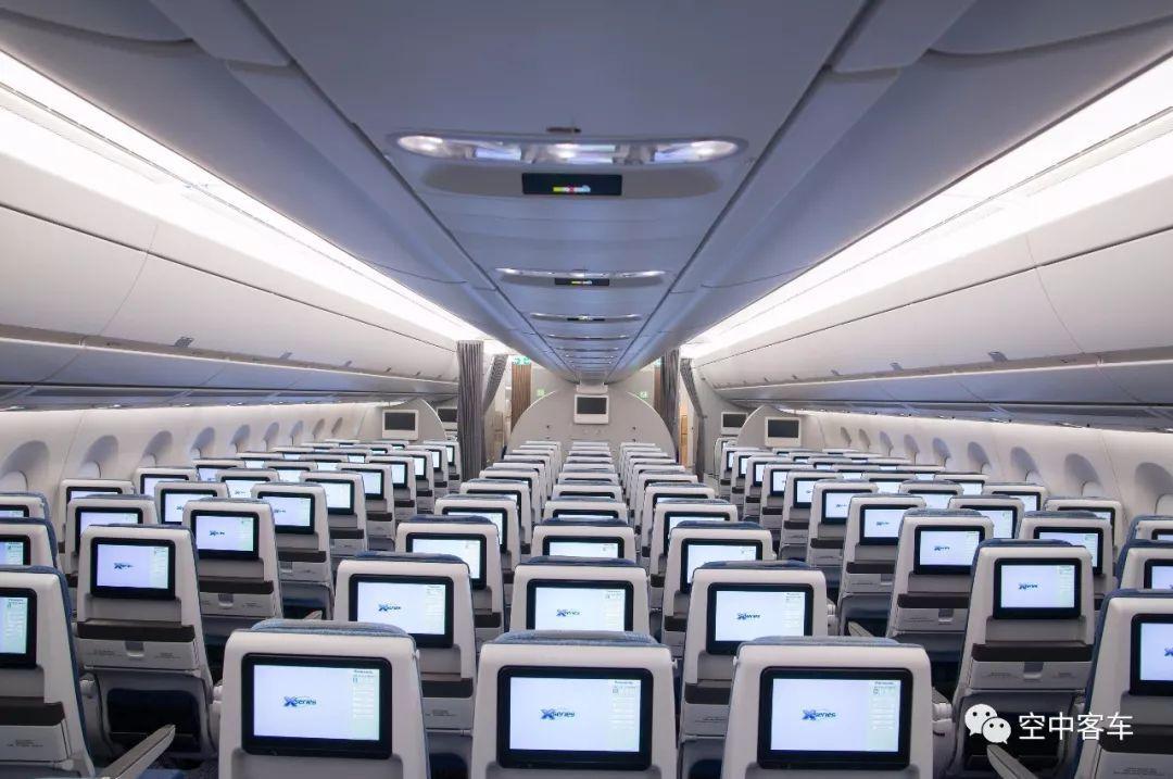 国航首架a350-900客舱