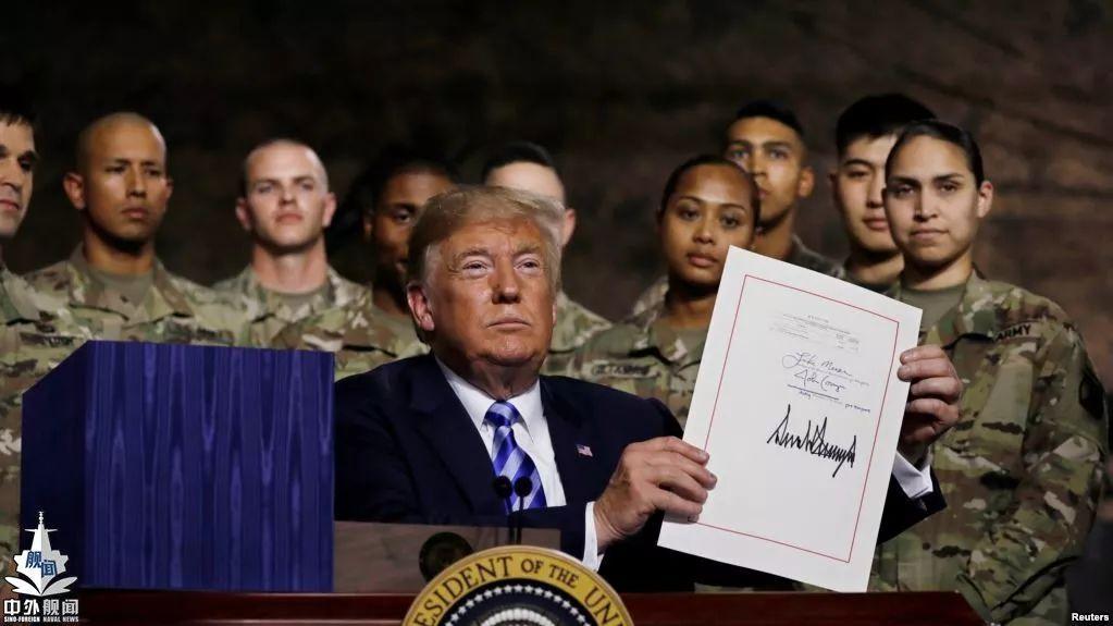 特朗普签署2019财年美国国防授权法案