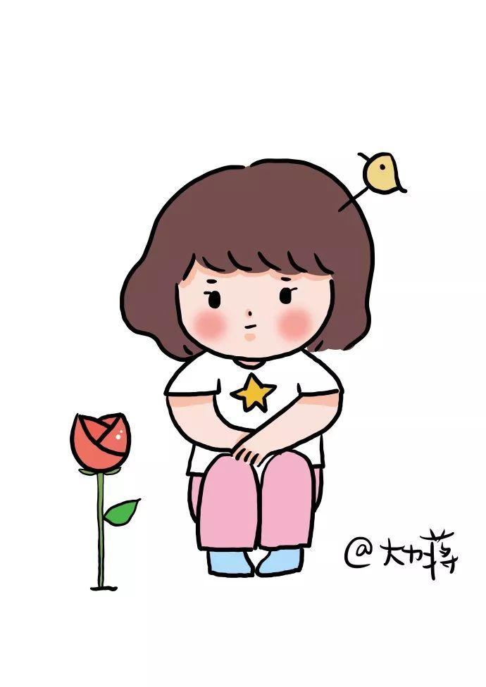 原标题:简笔画 | 可爱的小女孩 这是板绘作品 大家可以用彩铅,马克笔