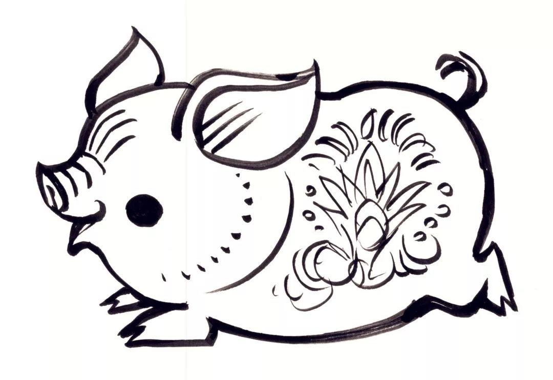 儿童手绘动物邮票