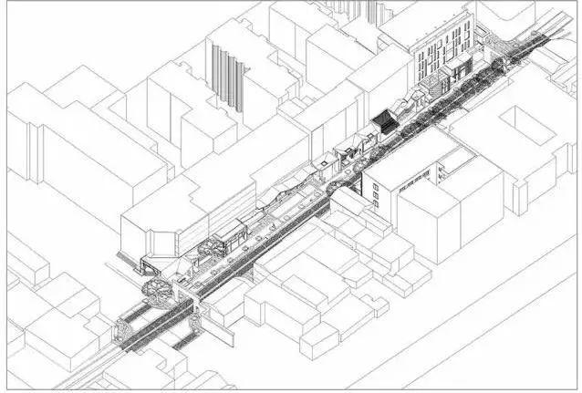 南宋御街王澍手绘建筑草图(图片来源于网络)