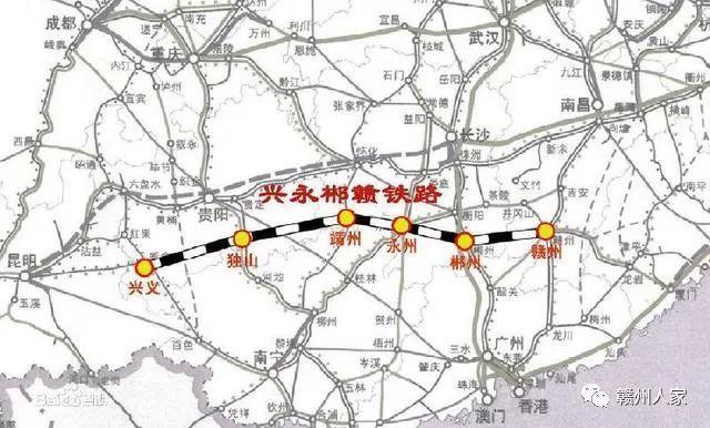 赣州规划一条快速铁路,全长1150公里,设28站,快看经过你家吗?