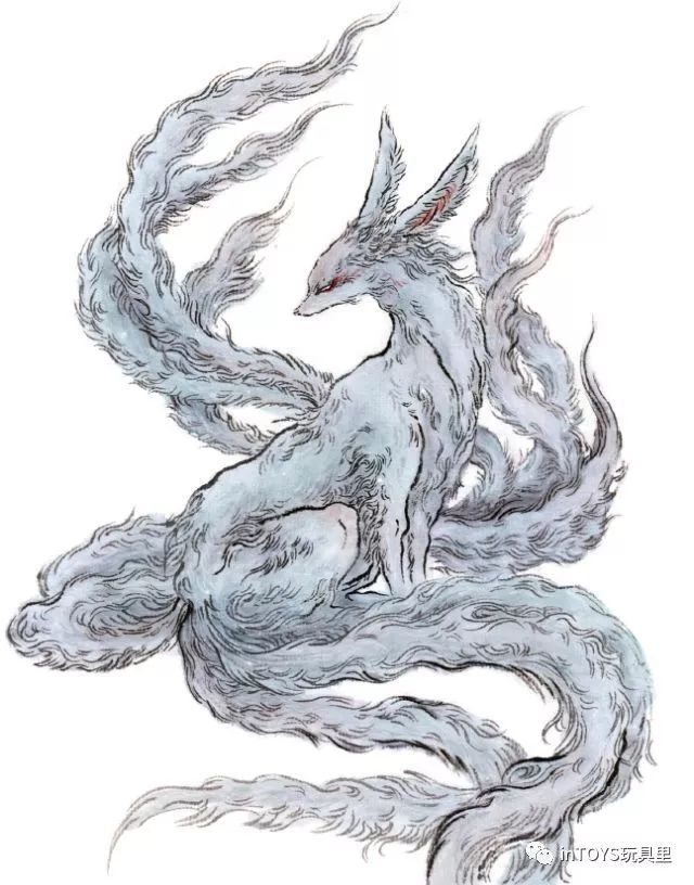 灵感源自先秦时期的「涂山歌」——「绥绥白狐,九尾庞庞.