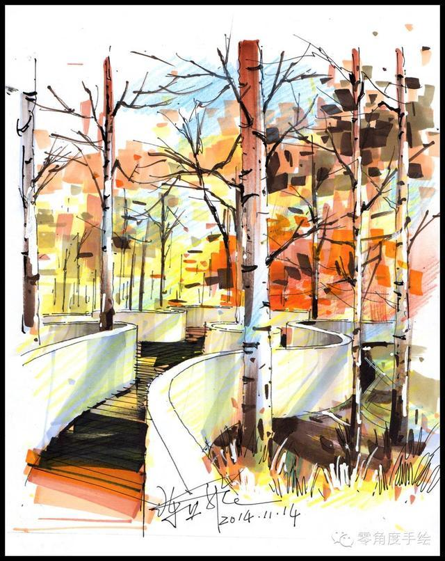 马克笔画画教程,马克笔使用入门和初学马克笔手绘上色