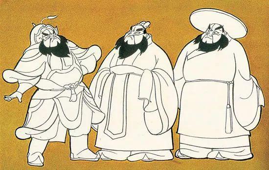 钱家骏的作品《骄傲的将军》原画设计(1956)图片