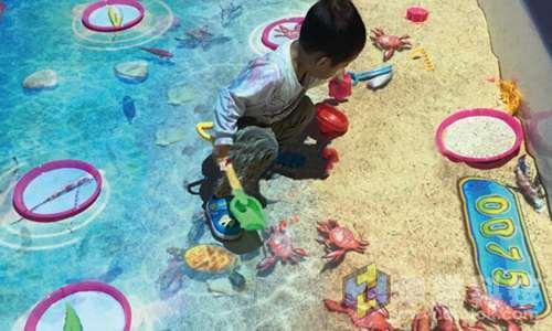华堂科技:互动投影游戏-互动投影性感学生中沙滩袜筒图片