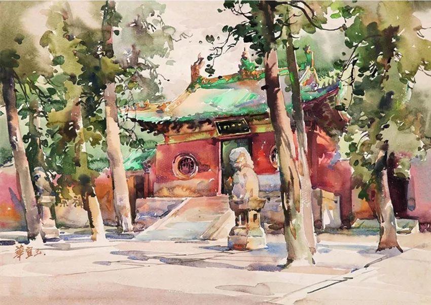 清华才女:华宜玉笔下的中国水彩画