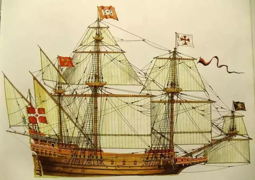 1艘17世纪的葡萄牙盖伦帆船图片