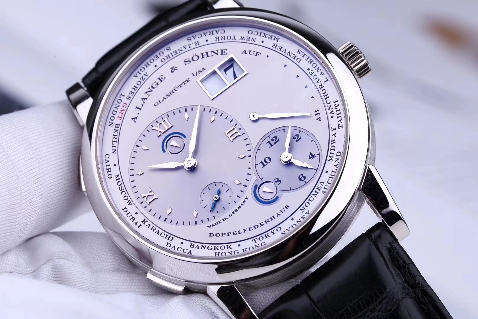 朗格lange 1号铂金世界时腕表图片