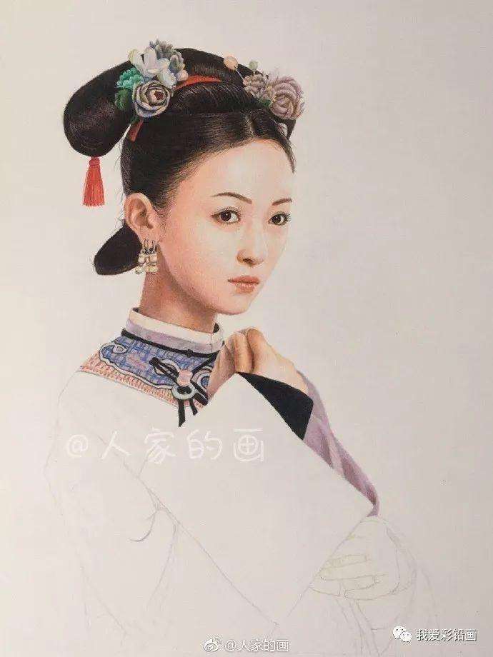 彩铅手绘《延禧攻略》··魏璎珞(吴谨言饰)