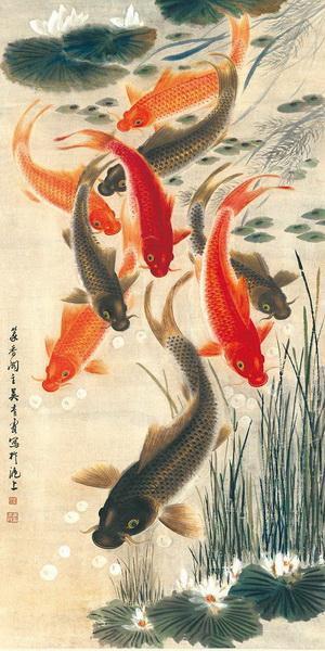 《九鱼聚财》