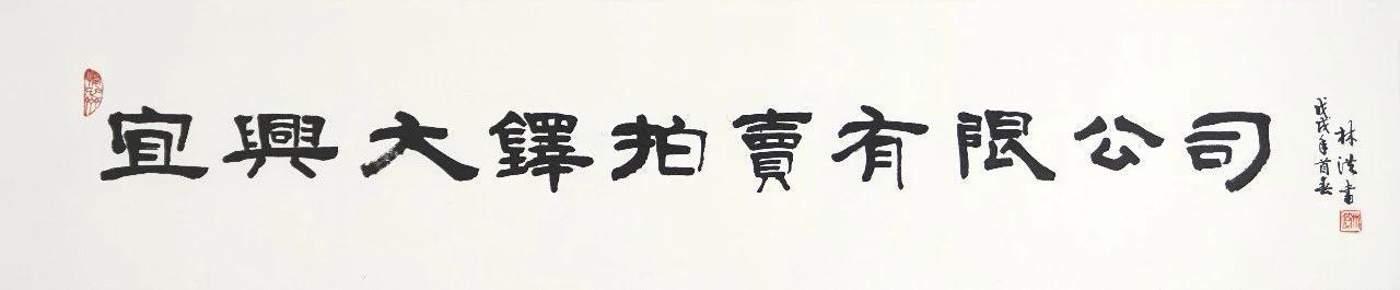 优画网艺术家林洪老师赠给大铎拍卖的题字图片
