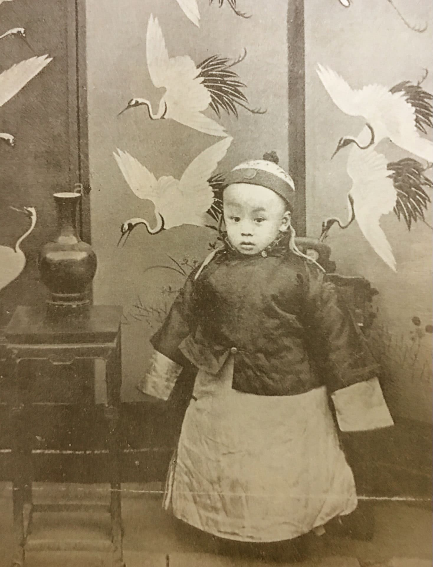 溥仪身份证图片_清末皇室老照片:溥仪小时候很可爱,他爹年轻时候非常帅_福晋 ...