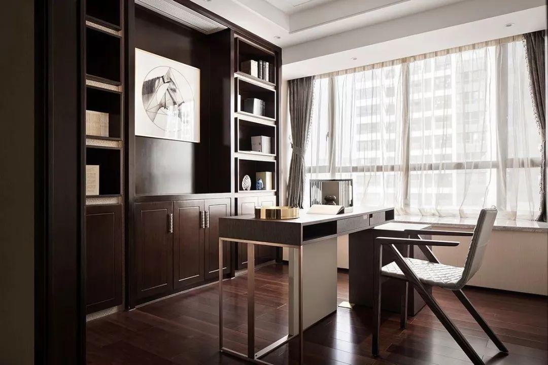 案例  高级灰遇上新中式,打造240㎡东方极简的生活美学!图片