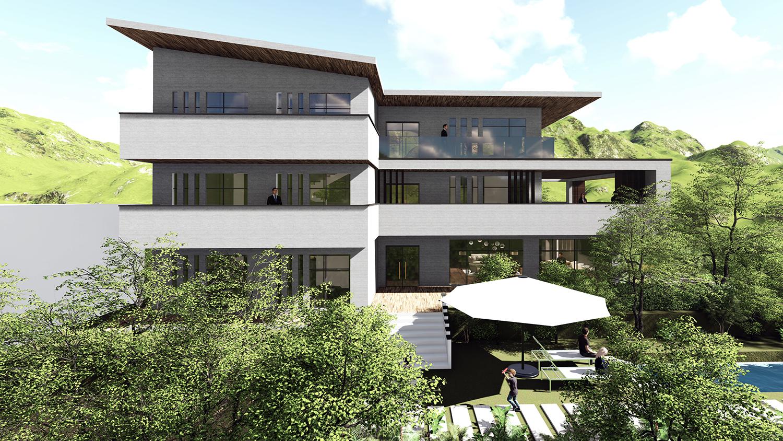 超美中庭+霸气条窗,浙江现代农村别墅,75万拥有!还等什么?
