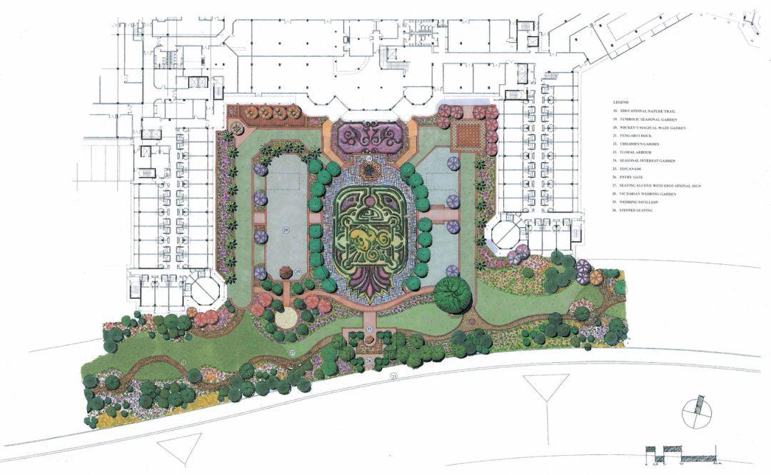 酒店花园平面图手绘