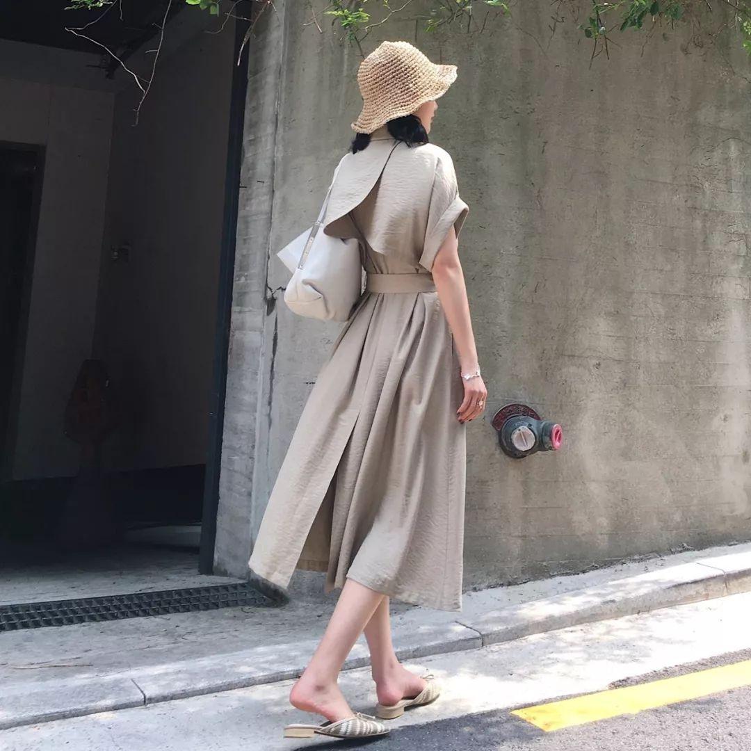 风衣裙图片_2021新款风衣裙图片