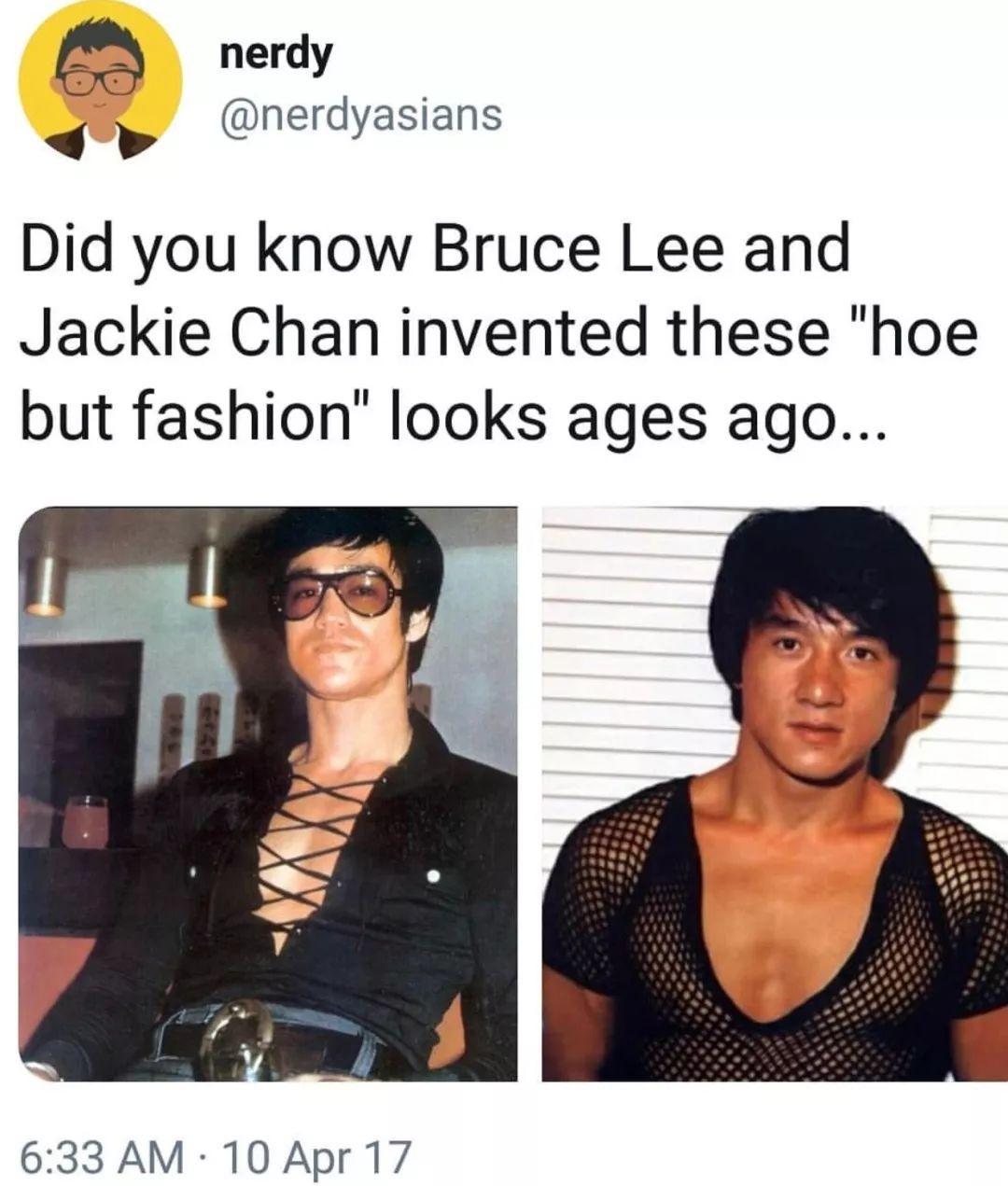 紧身衣、小吊带,成龙才是真正的时尚icon!