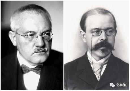 卡尔·博施(左)与能斯特(右)