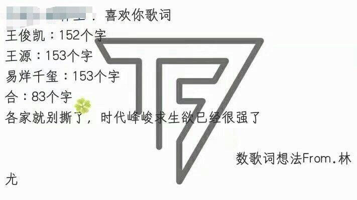 tfboys歌词字数不一样,王俊凯少了一个字,但团饭更不服!