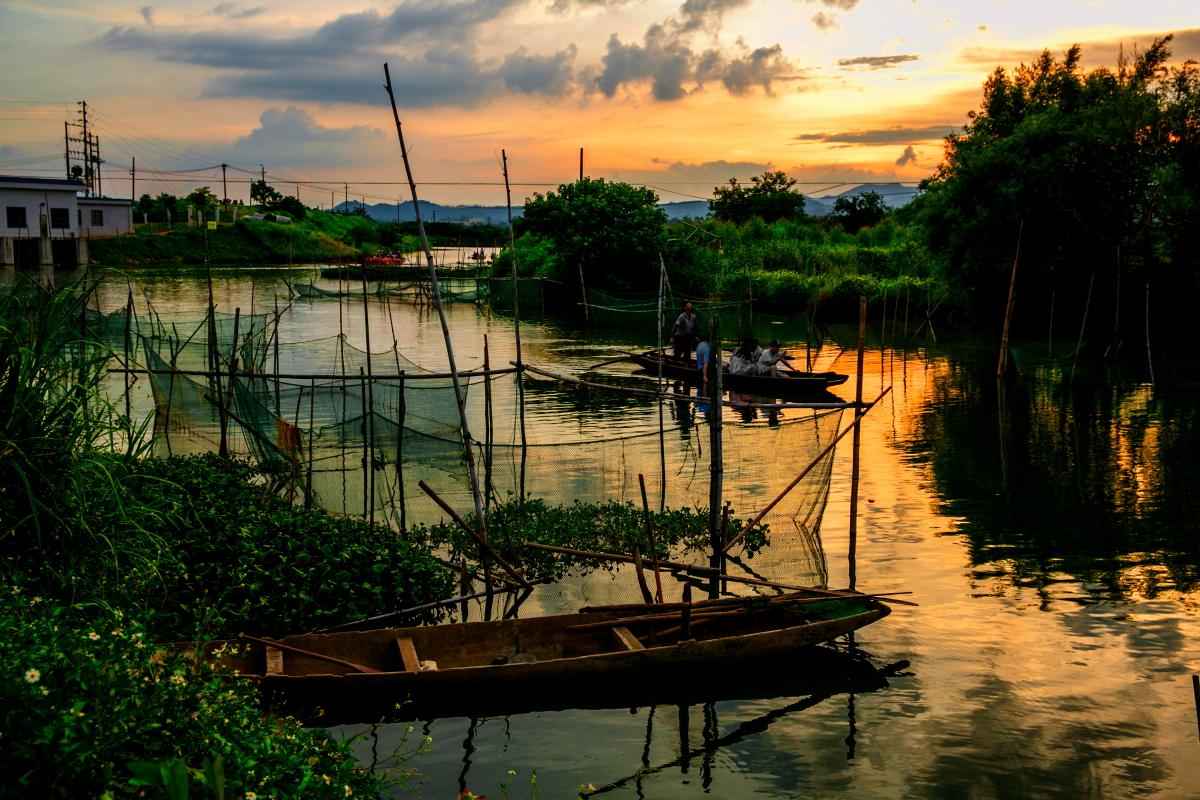 中国威尼斯水城:一个家就是一座岛,买菜都要划船,没门票!
