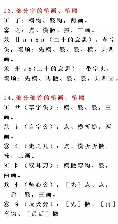 史上最全汉字书写笔顺规则,比老师教的都详细,必须人手一份