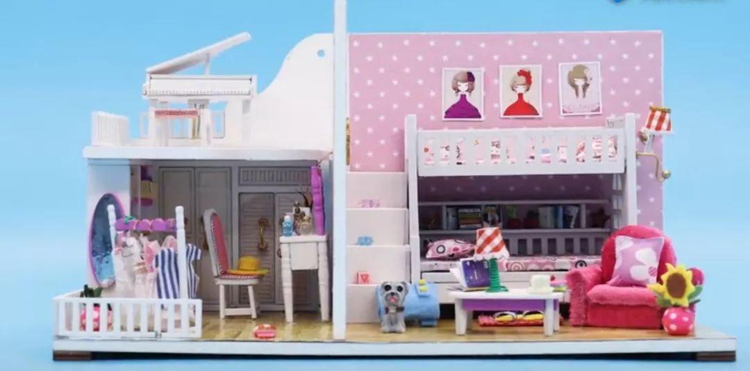 【魔法手工屋】暑假在家和爸爸妈妈一起手工diy小屋吧!