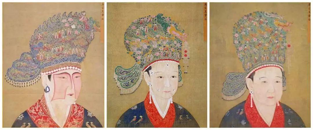 按照时间顺序看宋代皇后的画像,可以非常明显的看出一个由夸张到简化图片