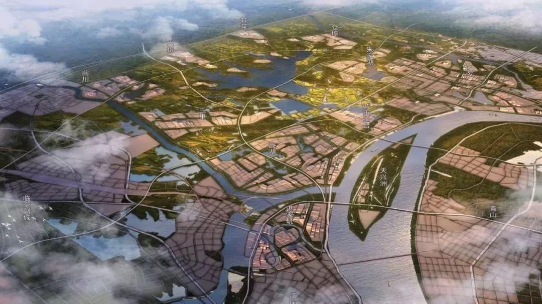 (长江新城规划图)