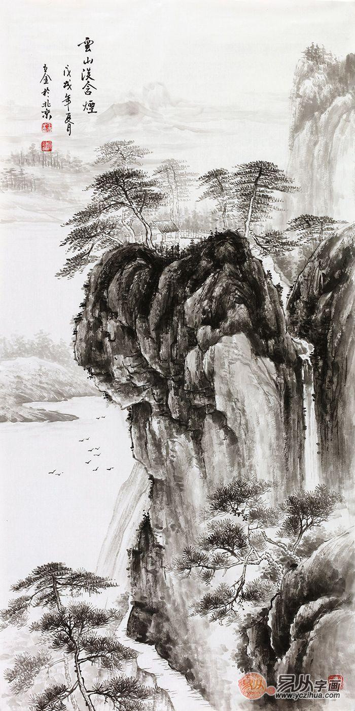 实力派画家王立全,自然风情水墨山水画欣赏图片