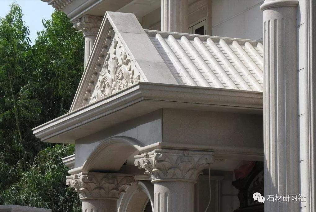 参考欧式别墅石材门头独立楼梯设计l案例别墅图片