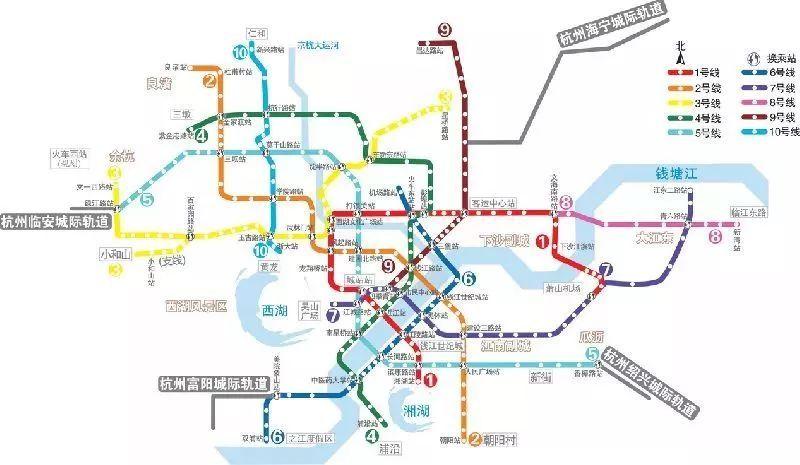 杭州地铁1-10号线线路图图片