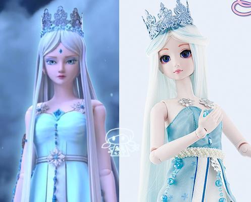 现实版三位叶罗丽公主的娃娃造型,灵公主依然很美,罗丽有点毁图片