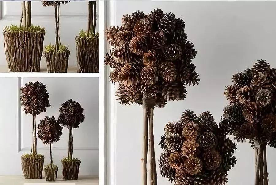 这个简单的折纸手工制作diy松果,做法并不复杂,形象逼真,材料简单