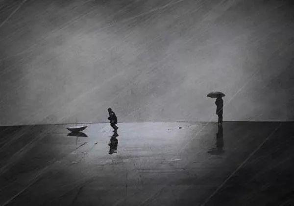 汕尾名人庄文展提示 没有伞的孩子,要在雨中努力奔跑